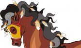 Free Horse Vector Graphics #4 - The Apache Indian Horse