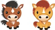 Free Horse Vector Graphics #9 - Cartoon Horse Graphic Set
