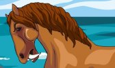Free Horse Vector Graphics #10 - Saber-tooth Horse Graphic