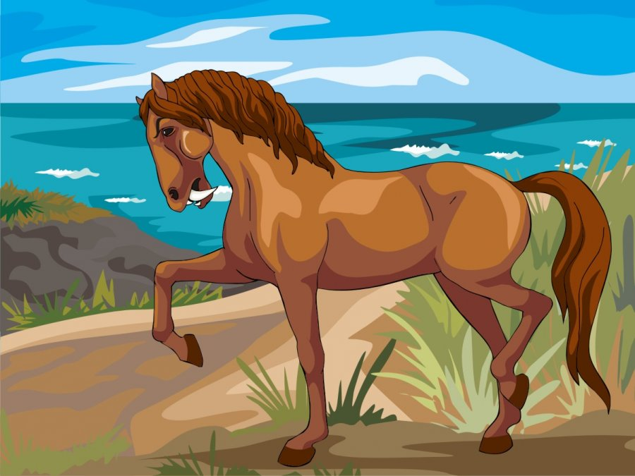 Saber-tooth Horse graphic