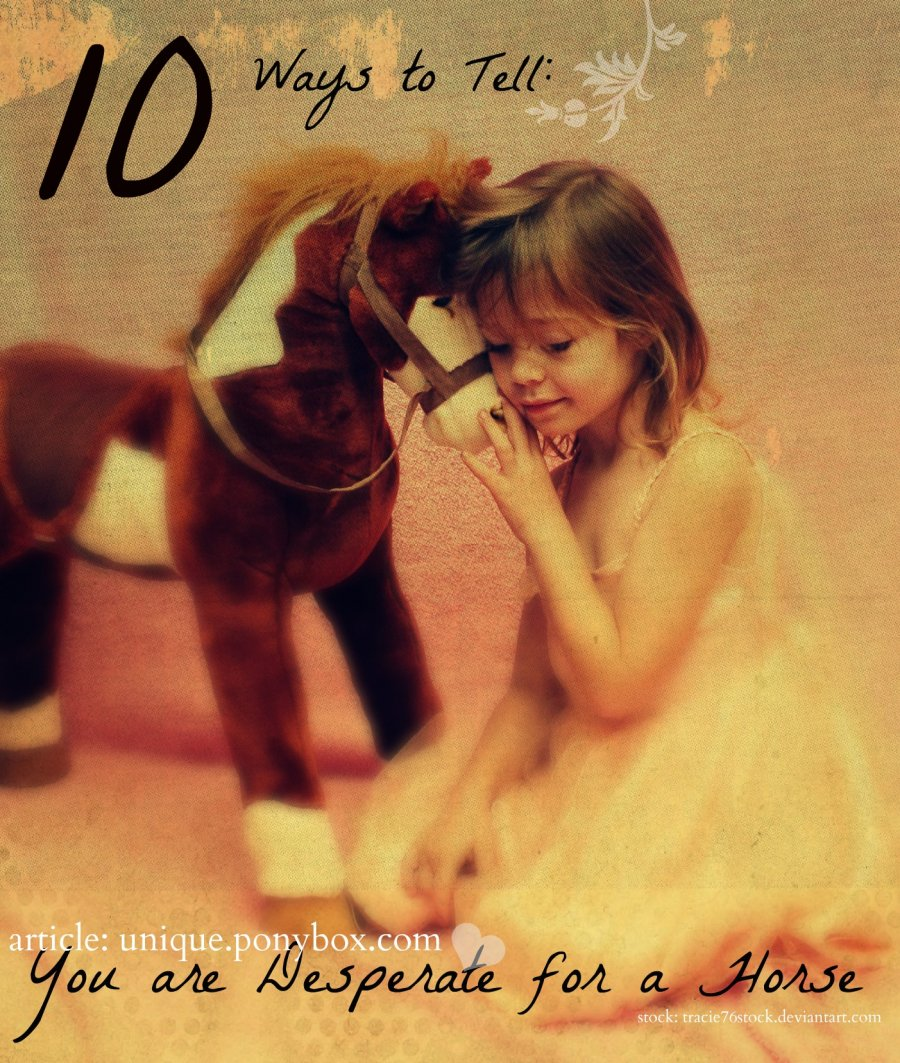 10 Ways to Tell You are Desperate for a Horse