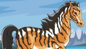 Free Horse Vector Graphics #12 - Tiger Horse