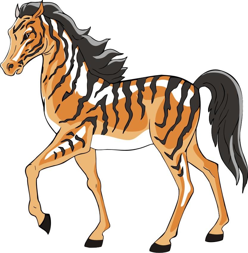 Картинки лошадь с тигром