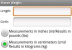 Horse Weight Calculator Android App