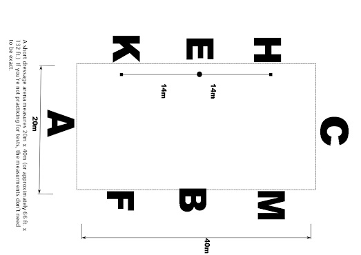 how to make dressage test arena letters